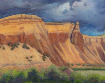"Passing Through (Ghost Ranch Thunder) - Fine Art Note Card  (4.25"" x 6"")"