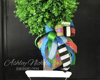 Topiary Door Hanger, Spring Door Hanger, Summer Door Hanger, Planters