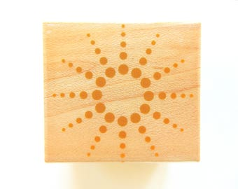 Hero Arts SUNNY DOTS Wood Mount Rubber Stamp