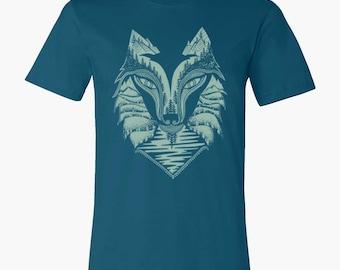 Wolf T-shirt | Sky & Deep Blue