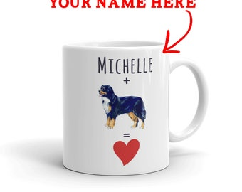Bernese Mountain Gift - Personalized Bernese Mountain Mug - Custom Name Gift For Bernese Mountain Lovers - Dog Lover Gift