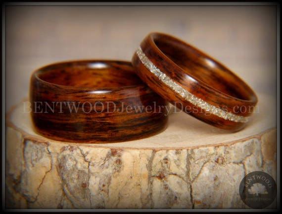 rosewood wedding titanium wooden bolivianrosewood wood custom styles rings buzz