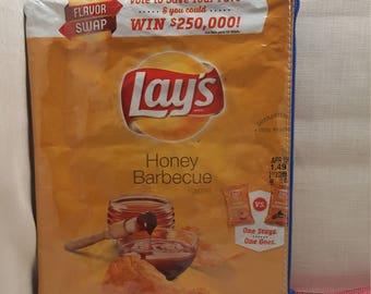 Honey BBQ upcycled zipper purse