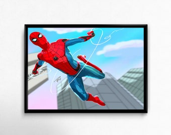 The amazing Spider Man, Peter Parker! Spider Man Homecoming, comics, cartoon Art Prints Poster.