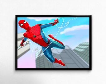 The amazing Spider Man, Peter Parker! Spider Man Homecoming, comics, cartoon Art Prints Poster.