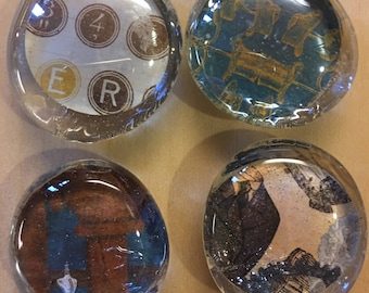 Steampunk Glass Magnets