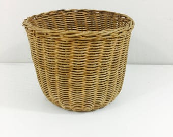 Simple Vintage Wicker Planter Basket 6""