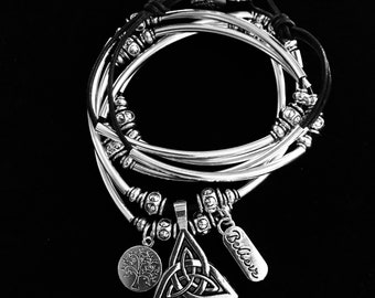 A Trinity Knot/Celtic Knot Bracelet, and can be worn as a Necklace.