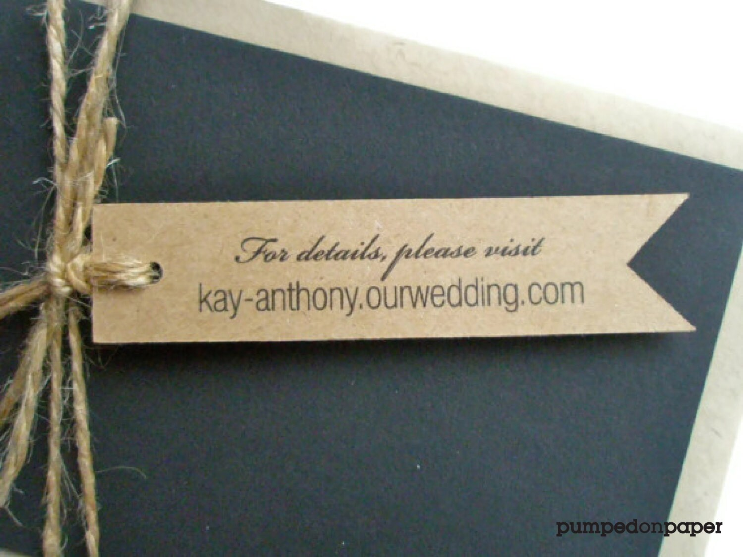 kraft banner tags - personalized - wedding invitation decoration ...