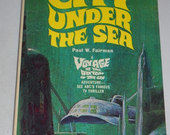 1967 City Under the Sea Voyage to the Bottom of the Sea TV tie-in series vintage paperback book science fiction sci-fi by Paul Fairman