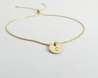 Personalized Bracelet Bridesmaid Gift Bracelet Femme Gold Bracelet Friendship Bracelet Dainty Bracelet Flower Girl Charm Bracelet