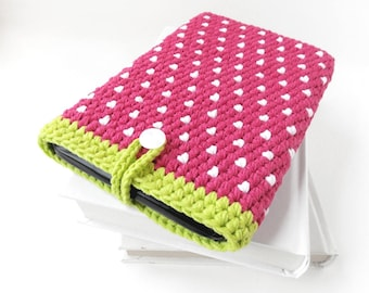 Samsung Galaxy Tab A 10.1 bag, Strawberry tablet cover, pink LG Pad case, vegan Huawei Media Pad M5 sleeve, iPad Pro 10.5 pouch, iPad 4 cozy