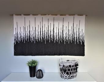 woven wall hanging, wall tapestry, housewarming gift, macrame wall hanging, woven wall decor, fiber art, textile wall art, modern art