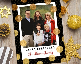 Holiday Photo Card, Modern Photo Card, Christmas Photo Card, Christmas Card, Christmas 2016 Family Photo Card, Printable Christmas Card
