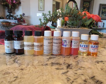 OVERSTOCK 1-oz Quality Fragrance Oil Supplies for Candles or Soaps Total 10 as a Bulk 1.25 Each Plus Shipping