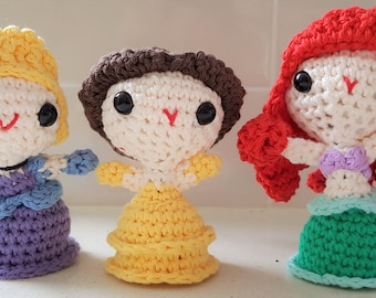 Hand Crocheted Princesses