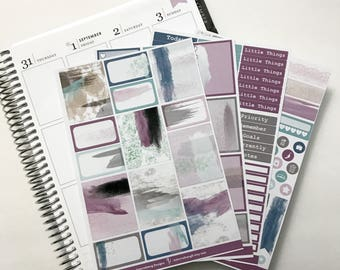 Beautiful Brushstroke Collection - Main Kit - Planner Stickers - No White Space - Erin Condren - Happy Planner