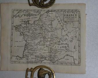 1733 John Senex Map of France