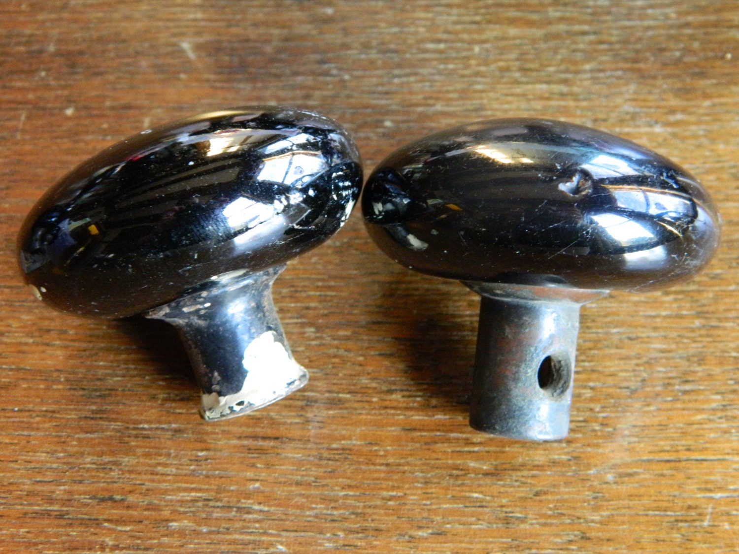 Black Porcelain Door Knobs, Vintage Black Knobs, Farmhouse Doorknobs ...