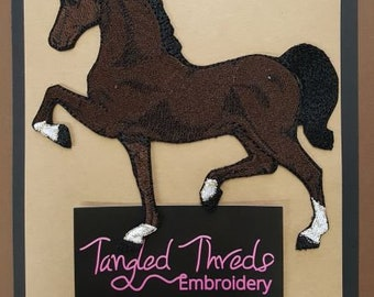"""Hackney, Horse, Pony Embroidered Patch Approx Size 5.2"""" x 5"""""""