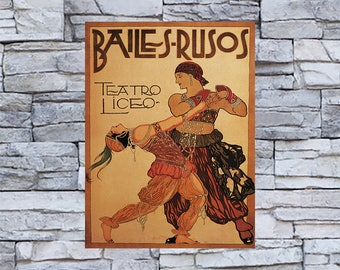 Baile - S- Rusos Vintage Sporting Ad, Sports Print, Vintage Art, Giclee Art Print, fine Art Reproduction