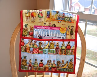 MADE TO ORDER, Walker Large Pocket Tote For Elderly or Handicapped, Choose Fabric Theme