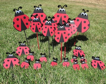Ladybug Party Centerpiece Picks 3 count