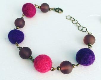 Newport Felt Bracelet - Grape