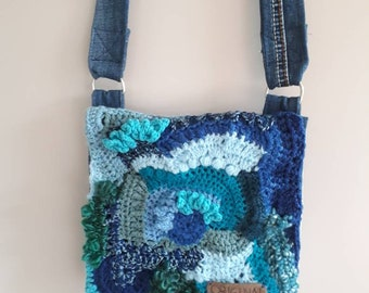 Jeans bag with Reformed Haaksel