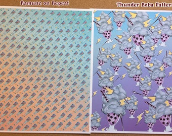 8 by 11 PRINTS of Ramune Repeats and Thunder Bobas