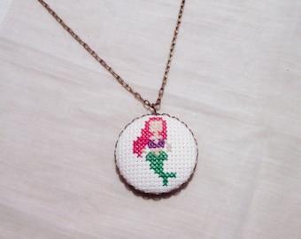 Little Mermaid Ariel Princess Necklace, Disney Fan Gift