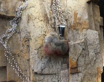 Carnelian Quartz Pendant Charged with Reiki