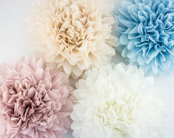 Pompoms jumbo paper flower, flower ball,wedding decoration, decoration,paper flower poms, baby shower, engagement party decorations