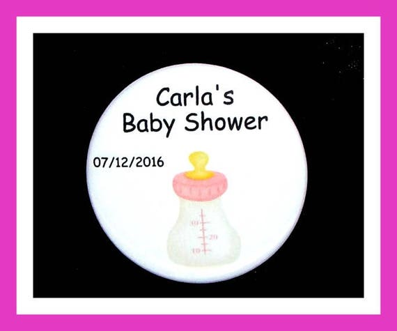 Baby Shower Bottle Pins,Personalized Buttons,Favor Tags,Its a girl,Party Favors,Birthday Party Favors,Personalized Favors,Set of 10