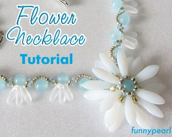 Necklace Flower. Tutorial PDF