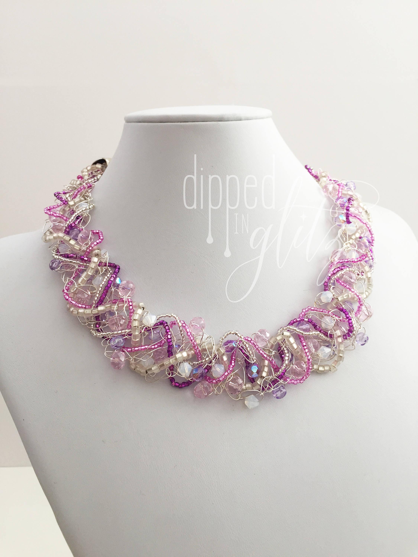 Berühmt Draht Häkeln Halskette Einfach Fotos - Elektrische ...