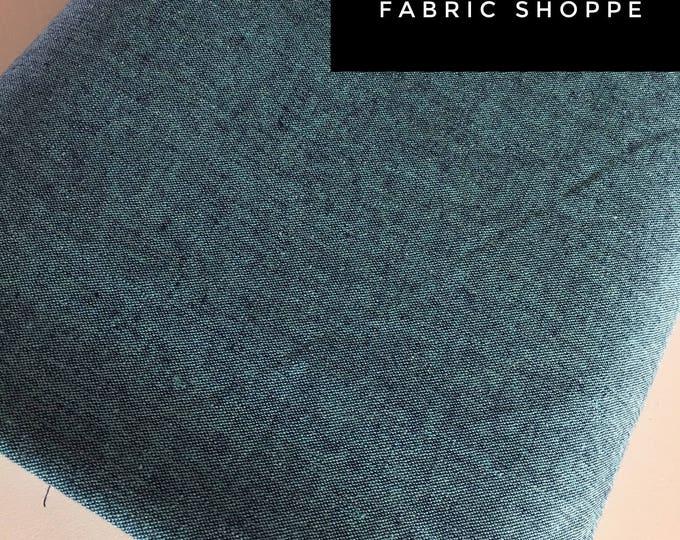 Essex Linen, Linen Blend fabric, Essex Yarn Dyed, Apparel Fabric, Denim Dress fabric, Yarn Dyed fabric, Linen fabric, Essex in Malibu