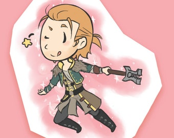 Magical Girl Anders - Dragon Age 2 Sticker