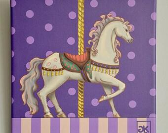 Carousel nursery print, horse nursery print