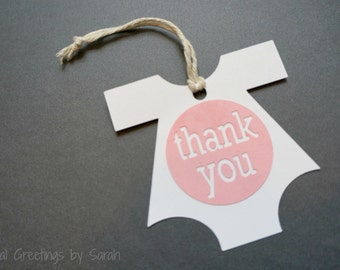 Onesie favor tag / thank you tag - set of 10