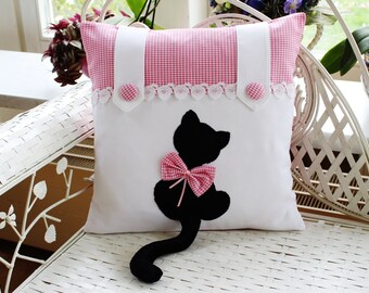 Pillow Cover Cat Mietze Pink