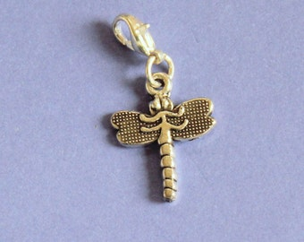 Silver Dragonfly Purse Charm,Silver Dragonfly Charm,Bag Charm,Dragonfly Bracelet Charm,Silver Charm,Zipper Charm,Dragonfly Zipper Charm