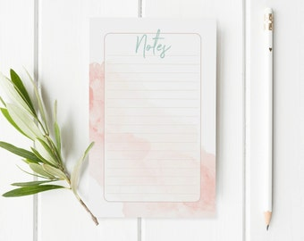 To Do Desk Pad - New Job Gift - Pink To Do List Notepad - Pink And Grey Office Stationery - Back To School Notepad - Shopping List Notepad