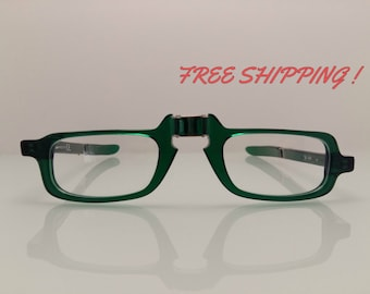 Foldable Eyewear Frame Handmade In Italy Green Color By Kador spa