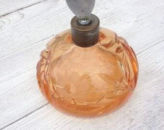 Art Déco Parfumzerstäuber antik 40er florales Muster Boho vintage Sale!!!