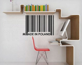 Wall decal PERSONALIZED BARCODE custom decal art stickers by Decals Murals (Medium)