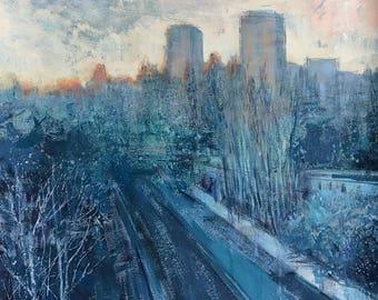 The 7th floor | gouache painting | 50x50 | Kiev 2017