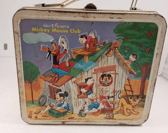 Vintage Mickey Mouse Club lunch box