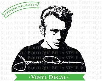 James Dean Portrait and Signature VINYL DECAL