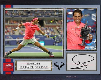 Rafael Nadal Print Signed autograph photo Tennis Framed printed without mount